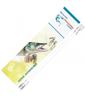 Set 2 Strune 20cm Fluorocarbon Baracuda Stiuca Rapitor Spinning