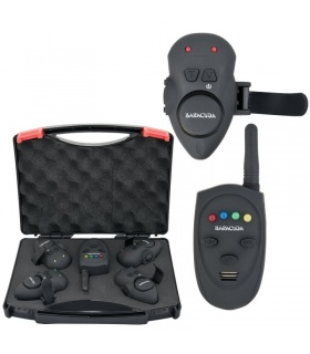 Set SG-V1 Wireless Set 4 avertizoare wireless+receptor Baracuda pentru Crap Feeder