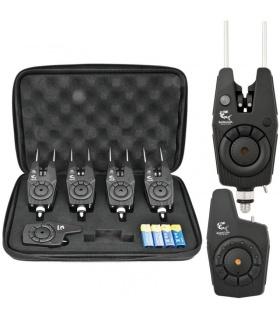 Set RF1688 Baracuda  cu Set 4 avertizoare Wireless si Receptor pentru Crap Feeder